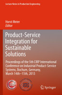 Product Service Integration for Sustainable Solutions