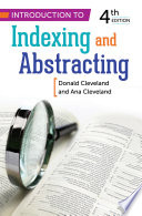 Introduction To Indexing And Abstracting Book PDF