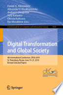 Digital Transformation And Global Society