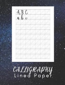 Calligraphy Lined Paper  Hand Lettering Work Book   160 Sheet Pad