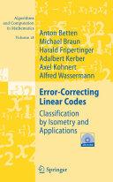 Error Correcting Linear Codes