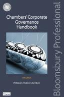 Chambers    Corporate Governance Handbook Book
