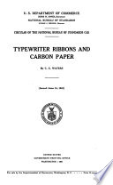 Typewriter Ribbons and Carbon Paper Book