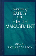 Essentials of Safety and Health Management