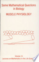 Some Mathematical Questions in Biology  muscle Physiology