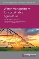 Water Management for Sustainable Agriculture
