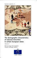 The Demographic Characteristics of National Minorities in Certain European States