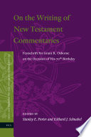 On The Writing Of New Testament Commentaries