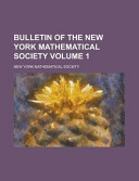 Bulletin Of The New York Mathematical Society