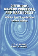 Diffusions Markov Processes And Martingales Foundations