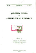 Alexandria Journal of Agricultural Research