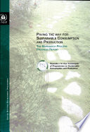 Paving The Way For Sustainable Consumption And Production The Marrakech Process Progress Report Book PDF