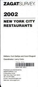New York Restaurant Survey 2002