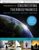 Fundamentals of Engineering Thermodynamics, 9th Edition EPUB Reg Card Loose-Leaf Print Companion Set