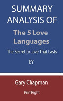 Summary Analysis Of The 5 Love Languages Book