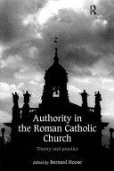 Authority in the Roman Catholic Church Book