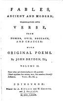 Original poems by John Dryden, Esq