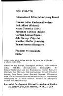 Journal of Development Alternatives and Area Studies