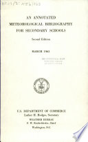 An Annotated Meteorological Bibliography for Secondary Schools