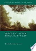 Spanish Economic Growth  1850   2015