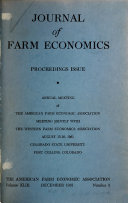 Journal of Farm Economics