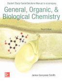 Student Study Guide Solutions Manual to accompany General  Organic   Biological Chemistry