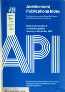 Architectural Publications Index Book PDF