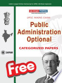 UPSC PUBLIC ADMINISTRATION PAPERS