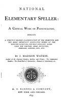 National Elementary Speller