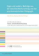 Eigen und anders – Beiträge aus der Geschlechterforschung und der psychoanalytischen Pädagogik