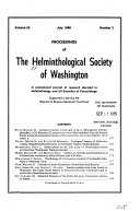 Proceedings of the Helminthological Society of Washington