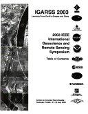 IEEE International Geoscience and Remote Sensing Symposium Proceedings Book