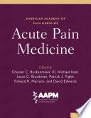 Acute Pain Medicine Book