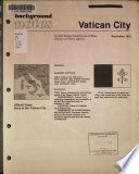 Background notes  Vatican City