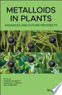 Metalloids in Plants