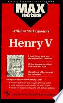 Henry V Maxnotes Literature Guides