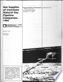 Gas Supplies of Interstate Natural Gas Pipeline Companies Book
