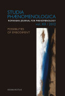 Studia Phaenomenologica XII   2012
