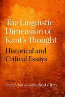 The Linguistic Dimension of Kant's Thought