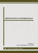 Materials Science and Engineering II