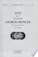 Atti Della Fondazione Giorgio Ronchi Anno LXIV N 5