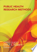 Public Health Research Methods Book