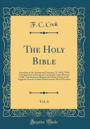 The Holy Bible Vol 6