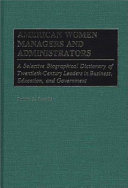 American Women Managers and Administrators