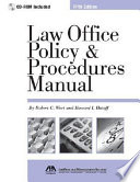 Law Office Policy Procedures Manual