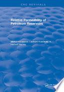Relative Permeability Of Petroleum Reservoirs