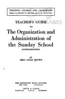 Teacher's Guide to the Organization and Administration of the Sunday School (Cuninggim-North)