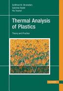 Thermal Analysis of Plastics Book