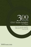 300 Hours Cfa Exam Insights