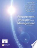 Procurement Principles and Management